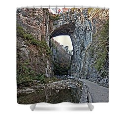 Shower Curtain featuring the photograph Natural Bridge Virginia by Suzanne Stout