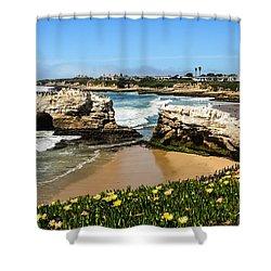 Natural Bridges State Park Beach Shower Curtain