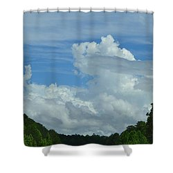 Natural Clouds Shower Curtain