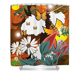 Natural Color Life Shower Curtain