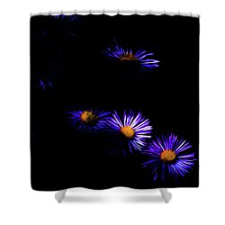 Shower Curtain featuring the digital art Natural Fireworks by Timothy Hack