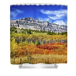 Natural Layers In Glacier National Park Shower Curtain