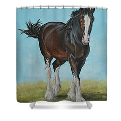 Natural Pose Shower Curtain