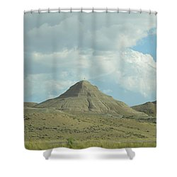 Natural Pyramid Shower Curtain