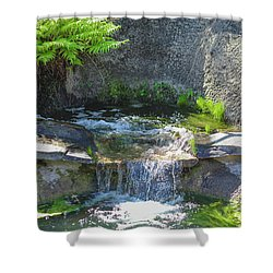 Natural Spa Zone Shower Curtain