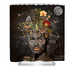Naturalist Shower Curtain by Nola Lee Kelsey