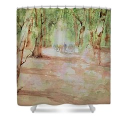 Nature At The Nature Center Shower Curtain by Debbie Lewis