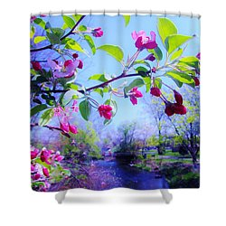 Nature Awakening Shower Curtain