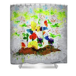 Nature Fantasy Trees Shower Curtain