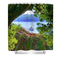 Nature Framed Boat Shower Curtain