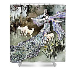 Shower Curtain featuring the digital art Nature Goddess by Pennie McCracken