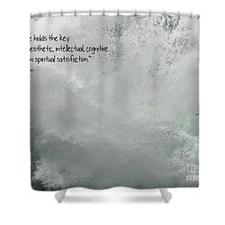 Shower Curtain featuring the photograph Nature Holds The Key by Peggy Hughes
