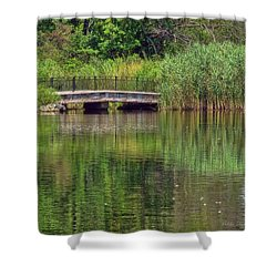 Nature In Green Shower Curtain by Mikki Cucuzzo