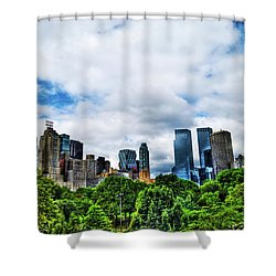 Nature In Metropolis Shower Curtain by Randy Aveille