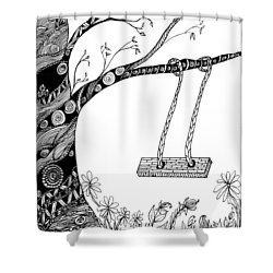 Nature Is Calling Come Out And Play Shower Curtain
