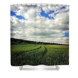 #nature #landscape #sky #sun #summer Shower Curtain by Vicki Field