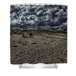 Shower Curtain featuring the photograph Nature Playing To An Empty Beach by Constantine Gregory