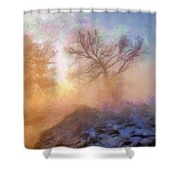 Nature Poetry Shower Curtain