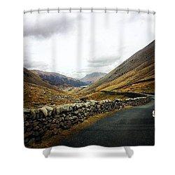 #nature #road #sky #sun #summer #fells Shower Curtain