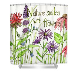 Nature Smile With Flowers Shower Curtain