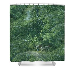 Nature Trees Fractal Shower Curtain