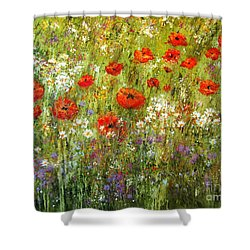 Nature Walk Shower Curtain by Valerie Travers
