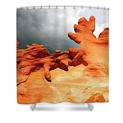 Shower Curtain featuring the photograph Nature's Artistry Nevada 2 by Bob Christopher