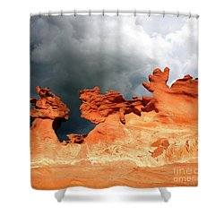 Shower Curtain featuring the photograph Nature's Artistry Nevada by Bob Christopher
