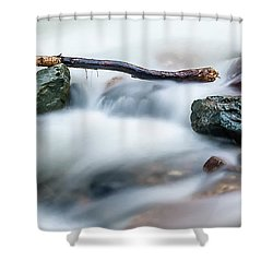 Natures Balance - White Water Rapids Shower Curtain