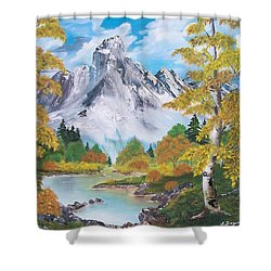 Shower Curtain featuring the painting Nature's Beauty by Sharon Duguay