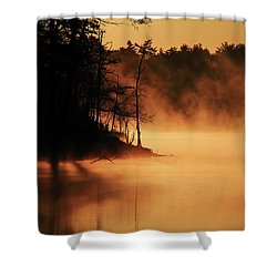 Nature's Breath Shower Curtain