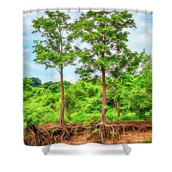 Nature's Electricity Shower Curtain