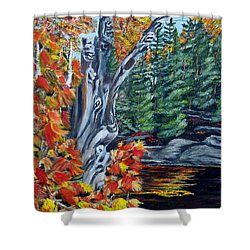 Shower Curtain featuring the painting Natures Faces by Marilyn  McNish