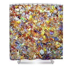 Natures Fall Falling Patterns Shower Curtain
