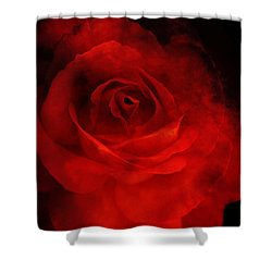 Shower Curtain featuring the photograph Natures Flame by Stephen Mitchell