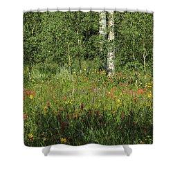 Nature's Flower Garden Shower Curtain