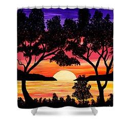 Nature's Gift - Ocean Sunset Shower Curtain