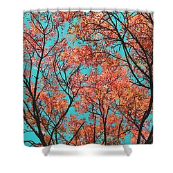 Natures Magic - Orange Shower Curtain