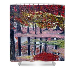 Shower Curtain featuring the painting Natures Painting by Marilyn  McNish