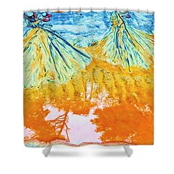 Natures Sand Art Shower Curtain