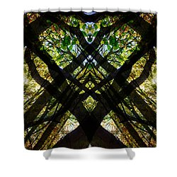 Natures Stain Glass Shower Curtain