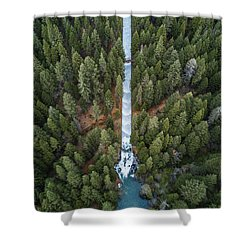 Natures Waterslide  Shower Curtain