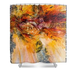 Naturescape In Red Shower Curtain by Carolyn Rosenberger