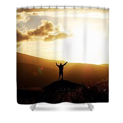 #nature#sunset#trip#sky#lakedistrict Shower Curtain