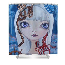 Naughty Cal Shower Curtain by Jaz Higgins