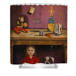 Naughty Child Shower Curtain by Leah Saulnier The Painting Maniac