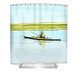 Nauset Kayaker Shower Curtain