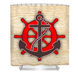 Nautical Collection Shower Curtain