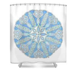 Nautical Mandala 2 Shower Curtain by Stephanie Troxell
