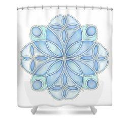 Nautical Mandala 4 Shower Curtain